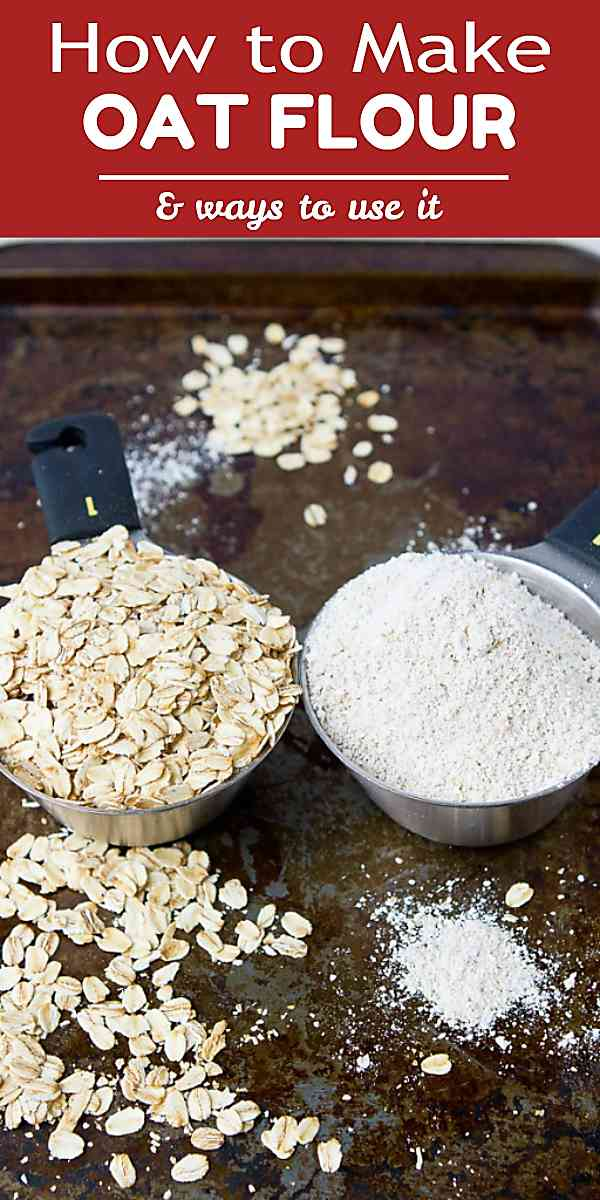 Quick and cheap! Make your own oat flour in less than 5 minutes and add it to muffins, quick breads and pancakes. 84 calories and 2 Weight Watchers Freestyle SP #howto #oatflour #fiber