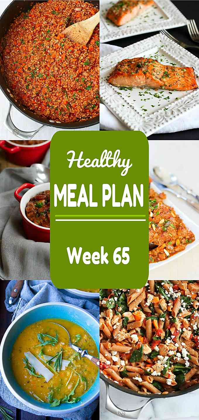 Meal planning time! Week 65 of this healthy meal includes plenty of dinner ideas, including both meat and meatless recipes.
