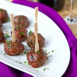Crockpot Meatballs with Blackberry Chili Sauce