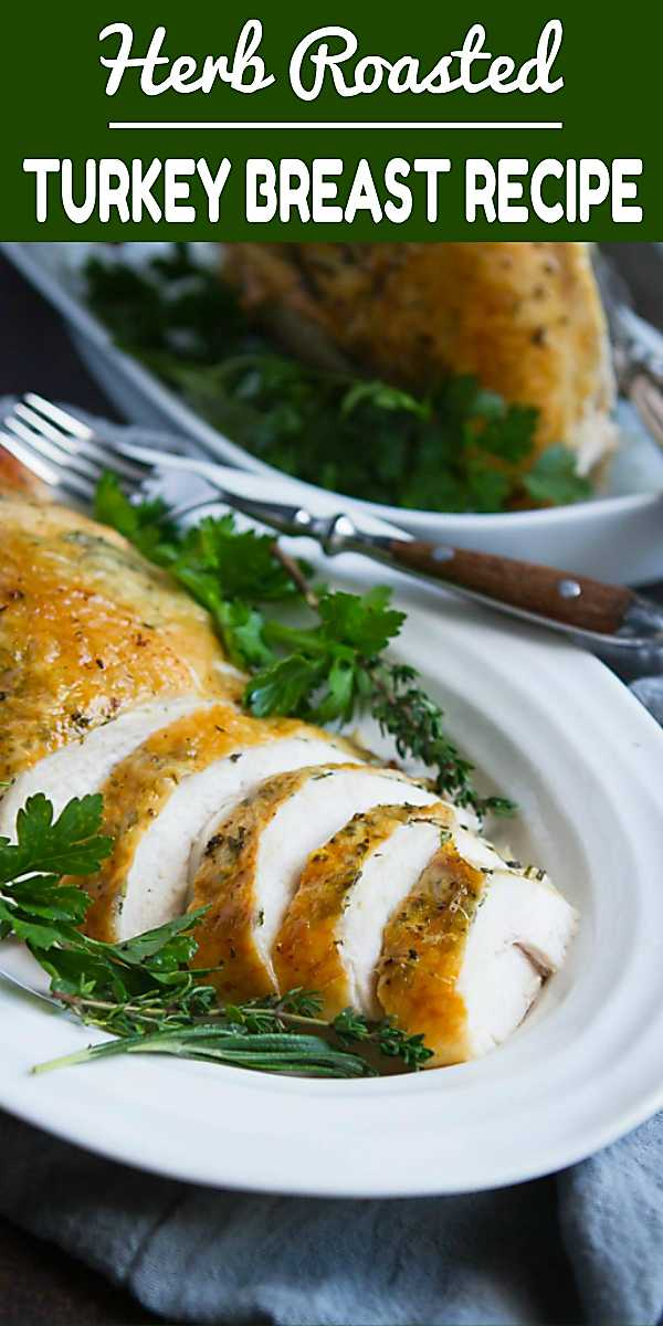 When the Thanksgiving mood hits, but cooking a whole turkey sounds like too much, this Herb Roasted Turkey Breast recipe does the trick! Easy, tender and flavorful. 190 calories and 2 Weight Watchers Freestyle SP #thanksgiving #myfitnesspal #weightwatchers