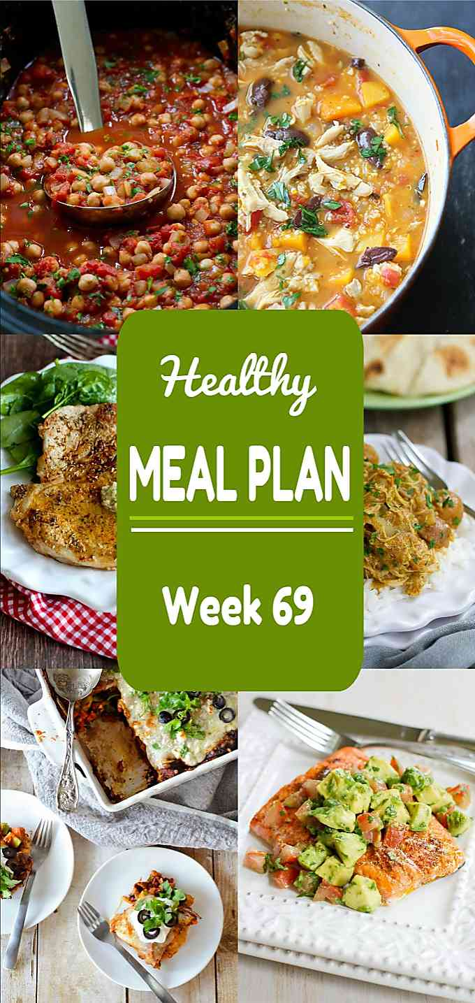 Healthy Meal Plan, Week 69 - Meat and Meatless Recipes #mealplan #mealplanning #healthydinnerrecipes