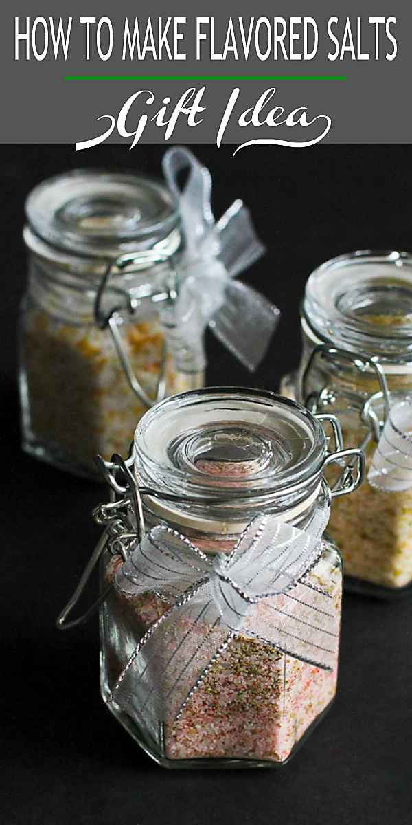 How to Make Flavored Salts...Great for holiday gifts! Plus 5 More Homemade Gift Ideas #hostessgifts #flavoredsalts