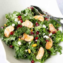 Kale, Pomegranate & Mandarin Orange Salad