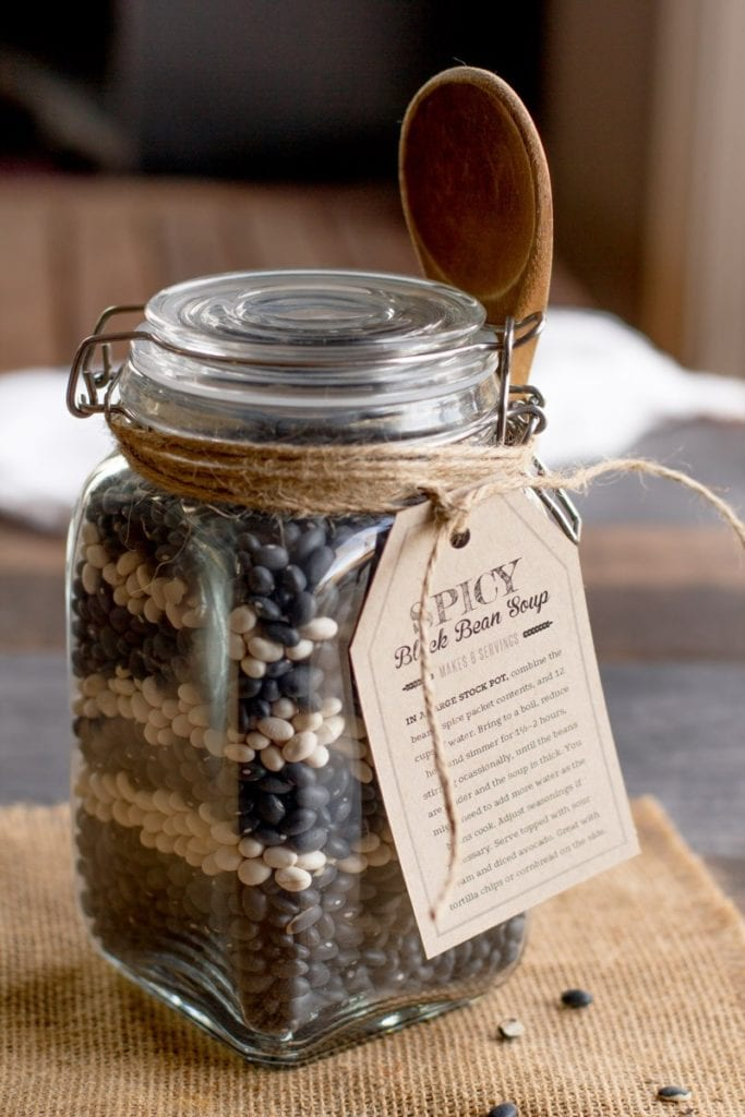 Spicy Black Bean Soup in a Jar - Gift Idea