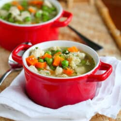 A great chicken soup recipe is a must for any household, particularly during the cold and flu season! The fiber in this recipe is pumped up with the addition of quinoa and vegetables. 212 calories and 3 Weight Watchers Freestyle SP #chickensoup #quinoarecipes #weightwatchers