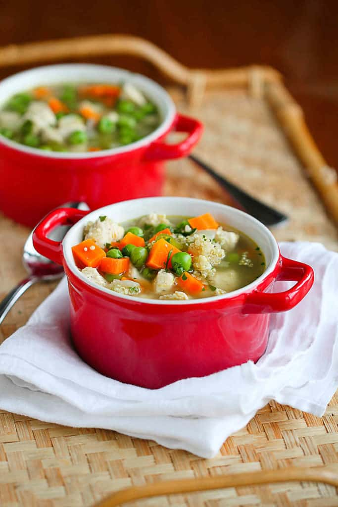 Chicken Soup Recipe With Quinoa Vegetables Cookin Canuck