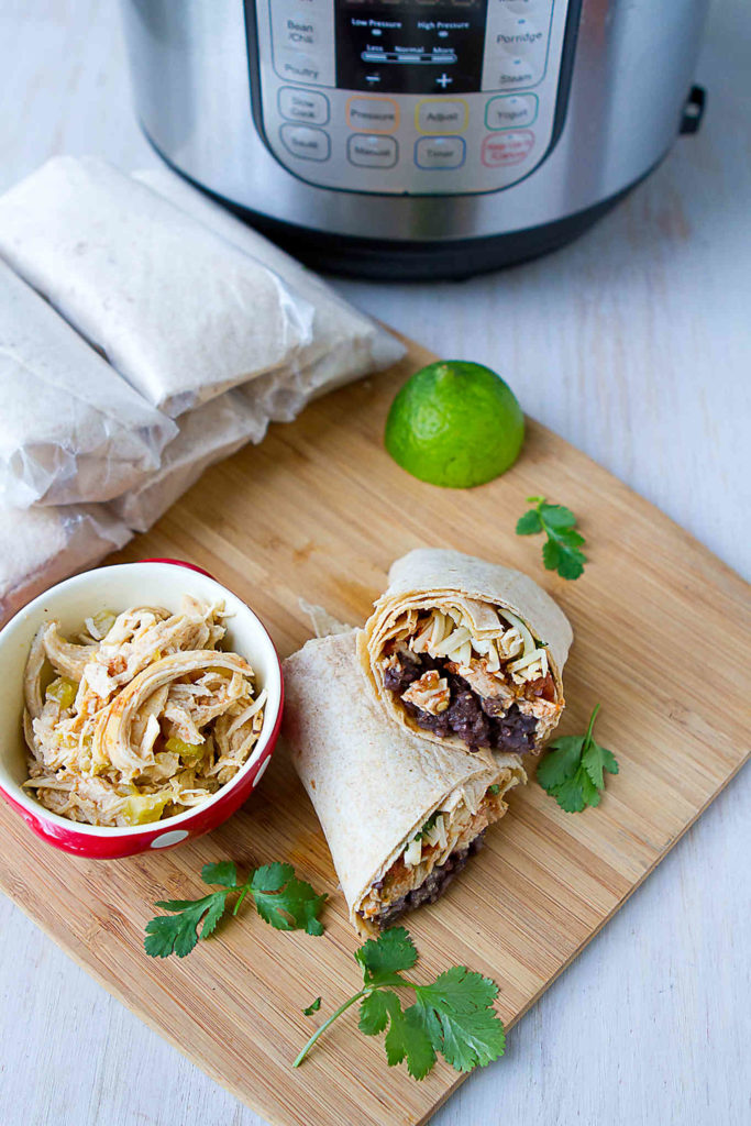 Make a batch of Instant Pot Freezer Burritos to have on hand for easy lunches or even last-minute dinners. Healthy and easy! 285 calories & 5 Weight Watchers Freestyle SP #instantpot #weightwatchers #burritos