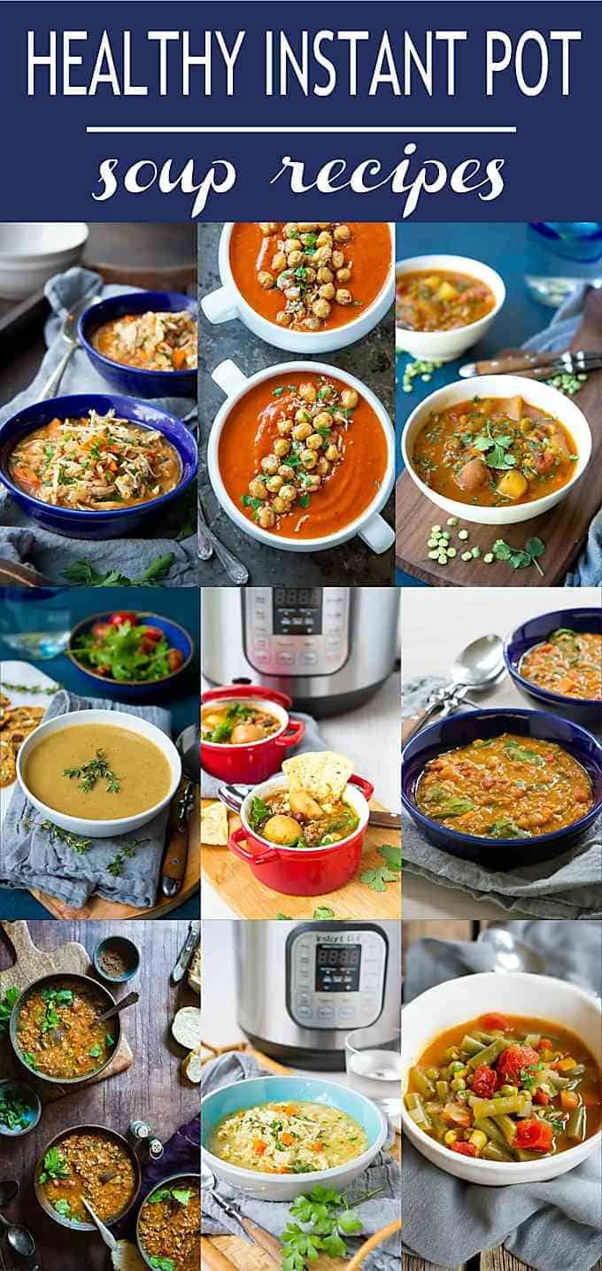 Easy dinner prep, here we come! 19 Healthy Instant Pot Soup Recipes to make your weekly meal prep quick, easy and nutritious. | Pressure Cooker | Instapot | Vegetarian | Chicken | Beans | Lentils | Dinner #instantpot #pressurecooker #soup #recipe