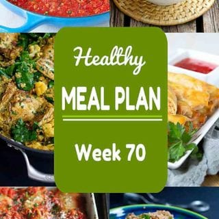 Kicking off the year right with another healthy meal plan! Week 70 of this Healthy Meal Plan includes both meat and meatless recipes, all with calorie counts & Weight Watchers SP #mealplanning #dinnerrecipes #weightwatchers
