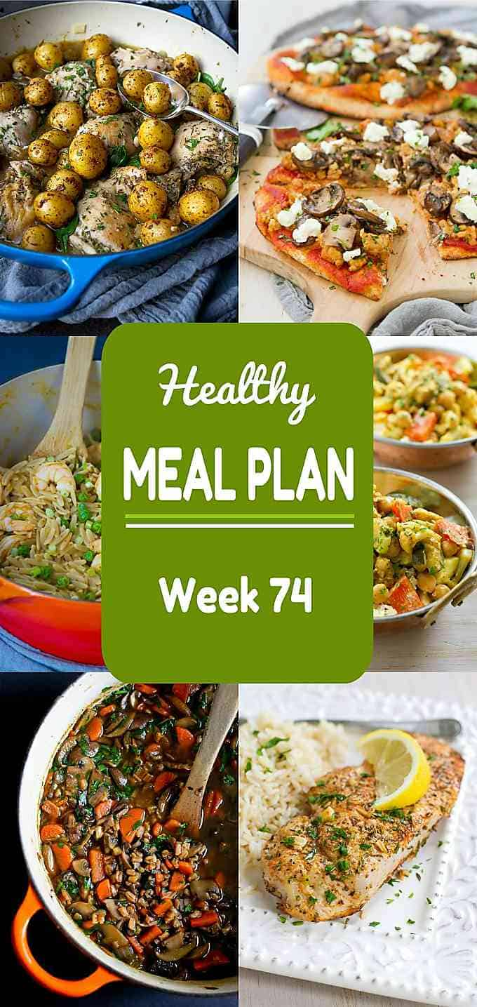 Kicking off week 74 of my healthy plan with a mixture of meat and meatless favorites! All include calories and Weight Watchers points. #mealplanning #dinner