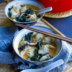 15-Minute Wonton Soup Recipe with Mushrooms & Chard
