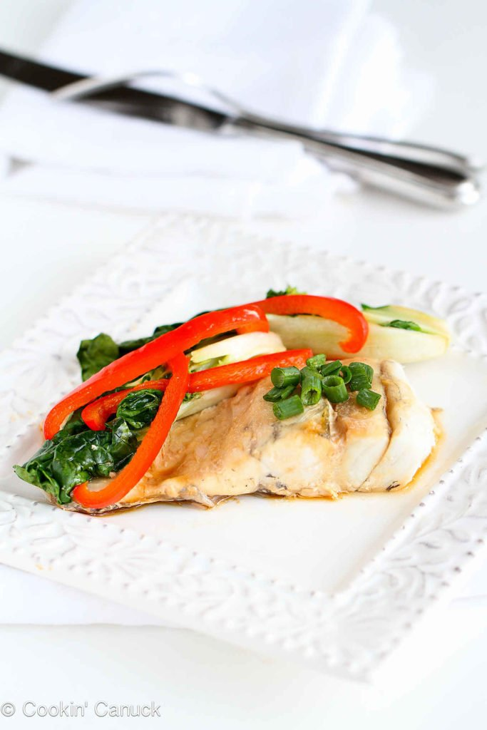 This easy fish recipe is healthy, delicious and easy to make. Includes bok choy and peppers. 197 calories and 1 Weight Watchers Freestyle SP