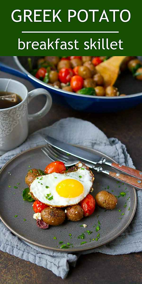 Who needs fancy brunch recipes when you can make an easy, delicious egg and potato skillet recipe? Super simple with tons of flavor. 228 calories and 5 Weight Watchers Freestyle SP #weightwatchers #vegetarian #glutenfree #Creamerpotatoes