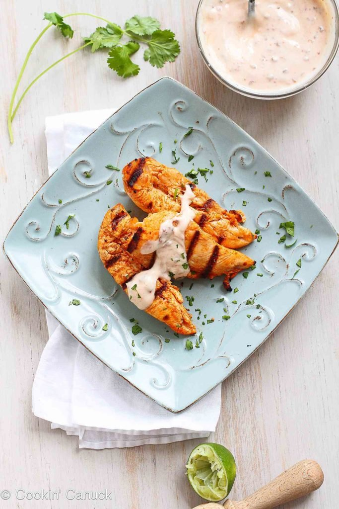 Chicken tenders are one of the most family-friendly and easy meals you can put on the dinner table! Plenty of flavor in this recipe. 179 calories and 2 Weight Watchers Freestyle SP #grilledchicken #recipe