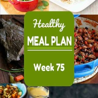 This week's healthy meal plan has plenty of great choices, including a special occasion meal for two! Nutritional information & Weight Watchers SP included. #mealplan #mealplanning