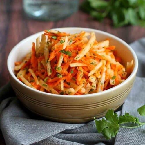 Jicama & Carrot Slaw Recipe with Honey-Lime Dressing | Cookin' Canuck