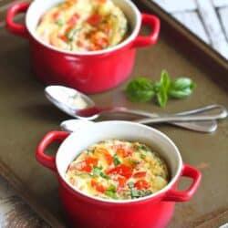 Make-Ahead Caprese Baked Eggs Recipe