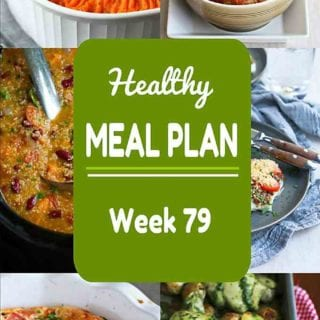 Everything from fish to a vegan soup to shepherd's pie. A little something for everyone in this week's healthy meal plan! Nutritional information and Weight Watchers SP included. #mealplanning #mealplan #dinner