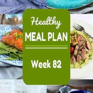 Need help putting together your meal plan? This week's healthy meal plan includes a mix of light springtime recipes & comfort food. Nutritional information and Weight Watchers SmartPoints included. #mealplan #mealplanning #dinner