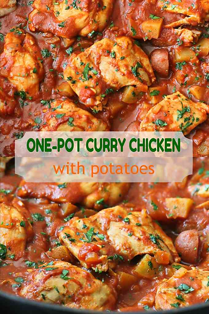 This one pot chicken curry is even better when sopped up with naan. Quick and easy recipe! 269 calories and 8 Weight Watchers Freestyle SP #weightwatchers #wwfreestyle #healthy #glutenfree