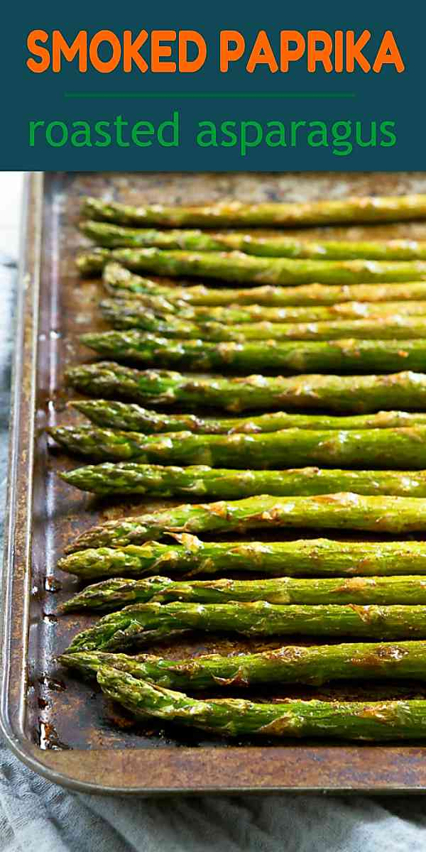 This roasted asparagus recipe is one of our favorite springtime side dishes! 47 calories and 1 Weight Watchers Freestyle SP #cleaneating #healthy #recipe