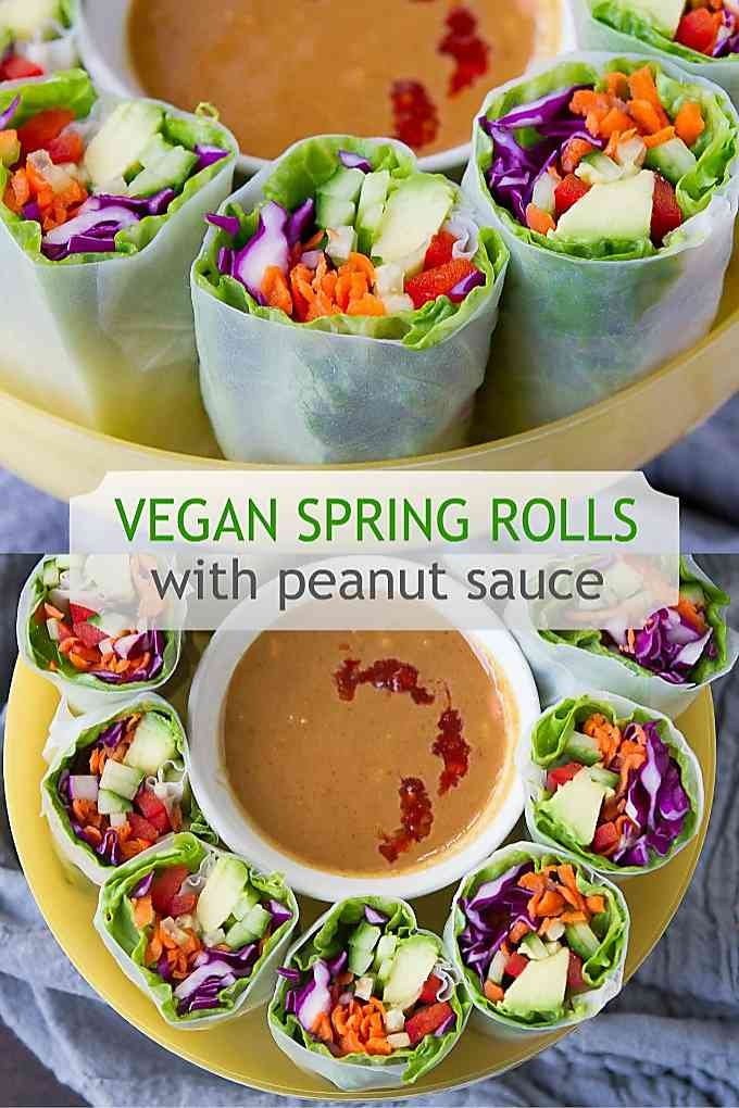 Keep this vegan spring roll recipe tucked away for a light lunch or vegetable appetizer. 117 calories and 4 Weight Watchers SP #weightwatchersrecipes #healthy #veganrecipes
