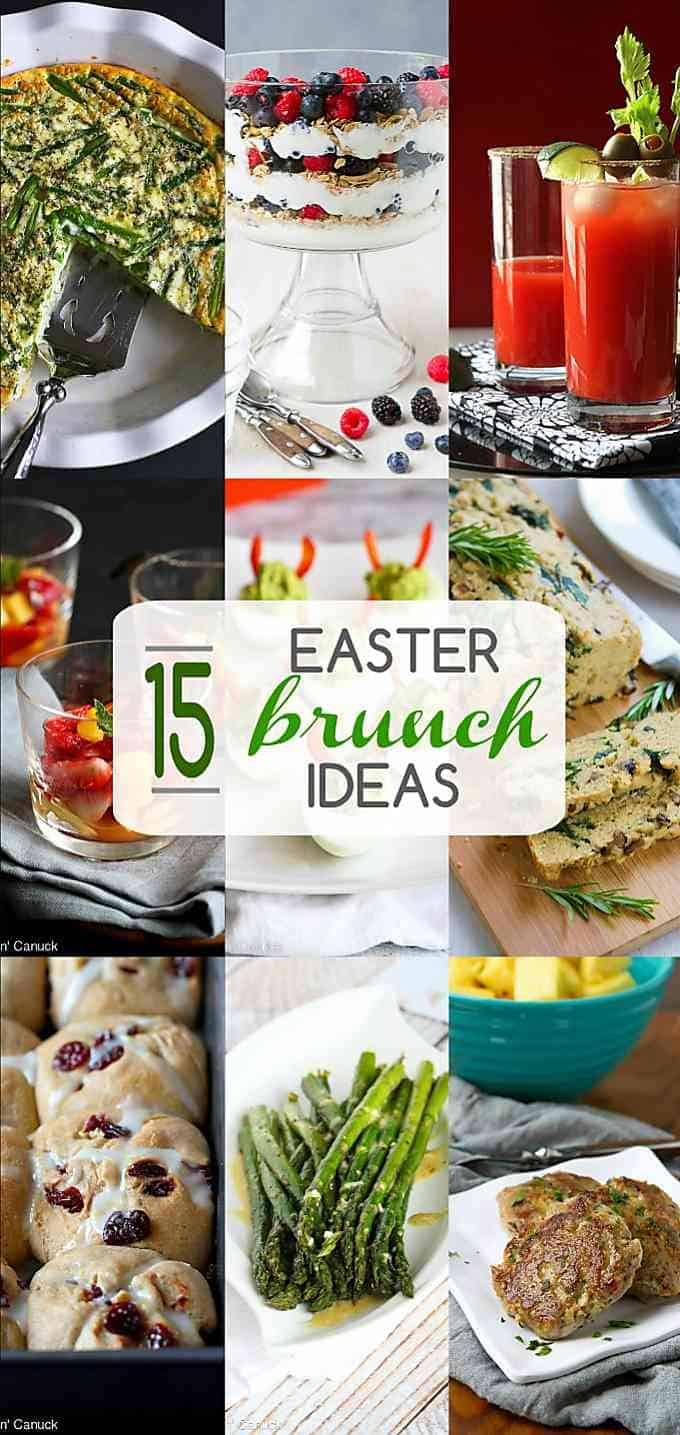 Celebrate Easter with a brunch filled with fresh flavors and seasonal recipes. These Easter brunch ideas include breakfast, salad, and tipsy and non-tipsy drink recipes. #Easter #brunch #recipes