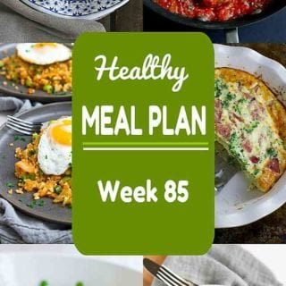Use up those holiday leftovers and branch out to some new healthy meals in this week's meal plan! Nutritional information and Weight Watchers SmartPoints included. #mealplan #mealplanning #dinner