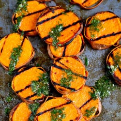 Grilled Sweet Potatoes with Cilantro Vinaigrette Recipe