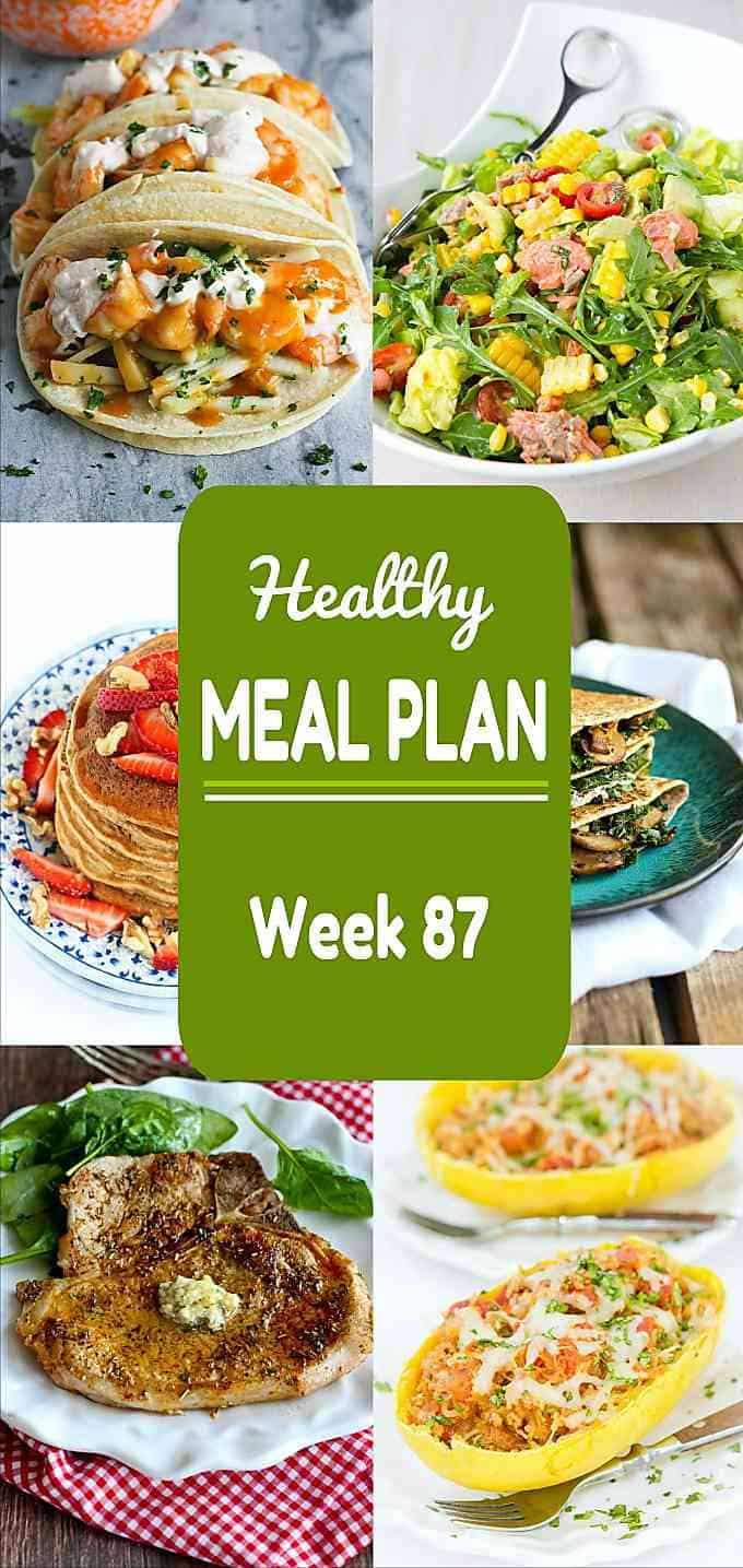 From Cinco de Mayo to weeknight meals, this week's healthy meal plan has you covered. Nutritional information and Weight Watchers SmartPoints included. #mealplanning #dinner #mealplan
