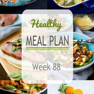 Temperatures are heating up and it's time for some grilling recipes in this week's meal plan, mixed with some of our favorite quick and easy weeknight dinners. Nutritional information and Weight Watchers SmartPoints included. #mealplanning #mealplan #dinner