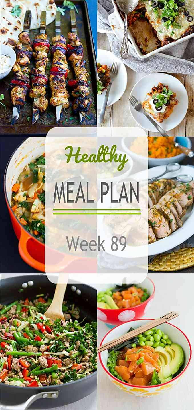 This week's meal plan includes some old favorites as well as some fantastic new recipes that are bound to become family favorites. Nutritional information and Weight Watchers SmartPoints included. #mealplanning #mealplan #dinner