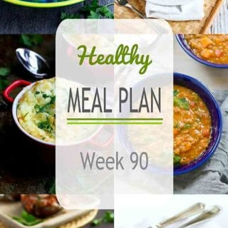 This week's healthy meal plan includes both holiday grilling ideas and weeknight dinners. As usual, all of the recipes include nutritional information and Weight Watchers points. #mealplanning #dinner