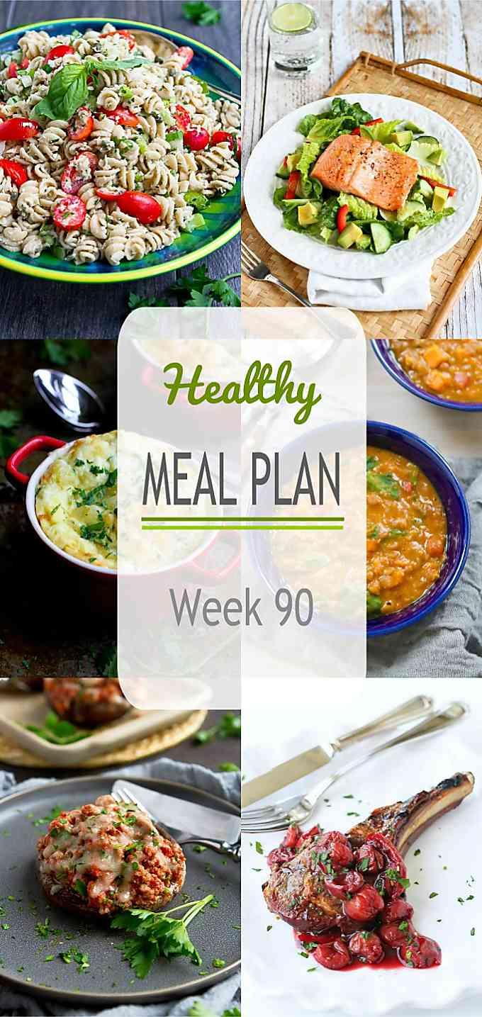 Healthy Meal Plan Week 90
