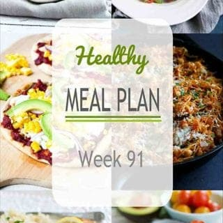 There are plenty of meat and meatless dinner recipes in the meal plan for this week. A great mix of warm and cool weather meals. #mealplanning #dinner #mealprep
