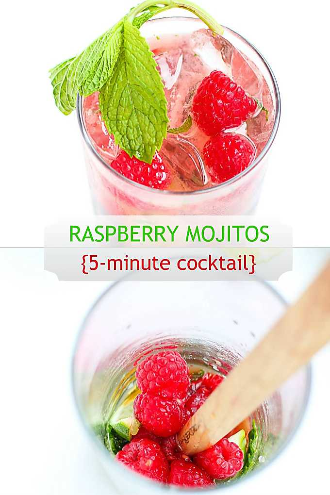 Make this refreshing raspberry mojito cocktail in just 5 minutes! Perfect for a hot summer day. #mojitorecipe #wwfreestyle
