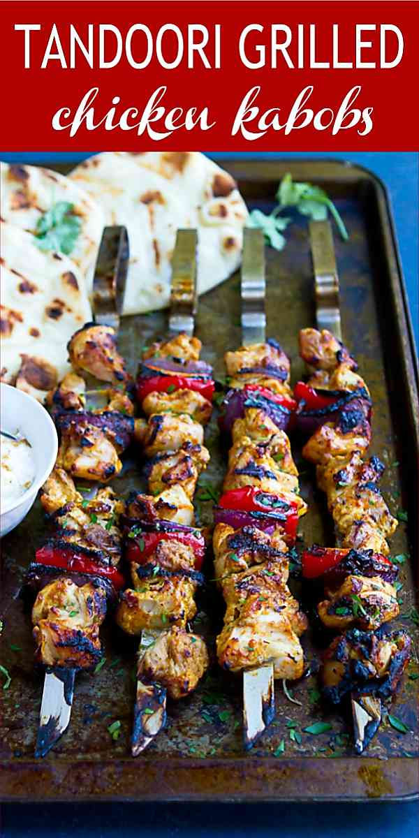 Tandoori Grilled Chicken Kabobs Cookin Canuck Healthy Grilling Recipe
