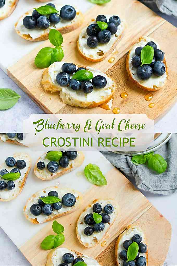 Make this easy appetizer recipe in about 10 minutes! Blueberries and goat cheese are the perfect savory-sweet combo. 45 calories and 1 Weight Watchers Freestyle SP #healthyappetizers #blueberries