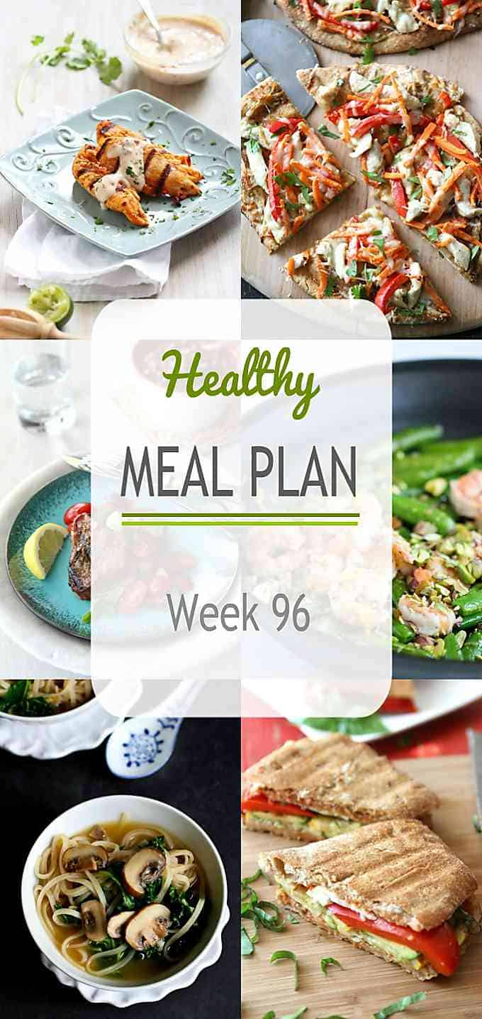 This week's healthy meal plan features some fantastic grilled recipes, along tried and true stovetop favorites. All recipes include nutritional information and Weight Watchers SmartPoints.