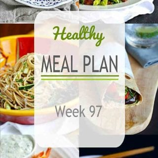 Another healthy meal plan to get you through the week! Grilled and stovetop recipes, including vegetarian, chicken and seafood recipes. #mealplanning #dinner