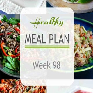 Mid-summer meal planning means a mixture of quick dinner salads, healthy grilling recipes and plenty of fresh produce. This week's plan highlights all of that! #mealplanning #mealplan #dinner