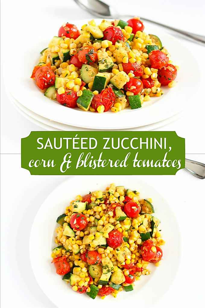 This quick zucchini recipe is a great side dish, sweet with the flavors of summertime. 81 calories and 0 Weight Watchers SP #zucchinirecipes #sidedish