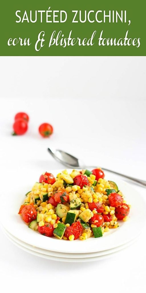 This easy side dish recipe is fantastic when made with the sweetest summertime corn and tomatoes! 81 calories and 0 Weight Watchers SP #tomatorecipes #wwfreestyle #veganrecipes