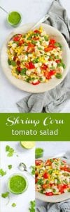 This is a summertime staple around here! Only 20 minutes to make this shrimp corn tomato salad. Super simple and tasty! 183 calories and 2 Weight Watchers Freestyle SP #weightwatchers #healthyeating #healthyrecipes