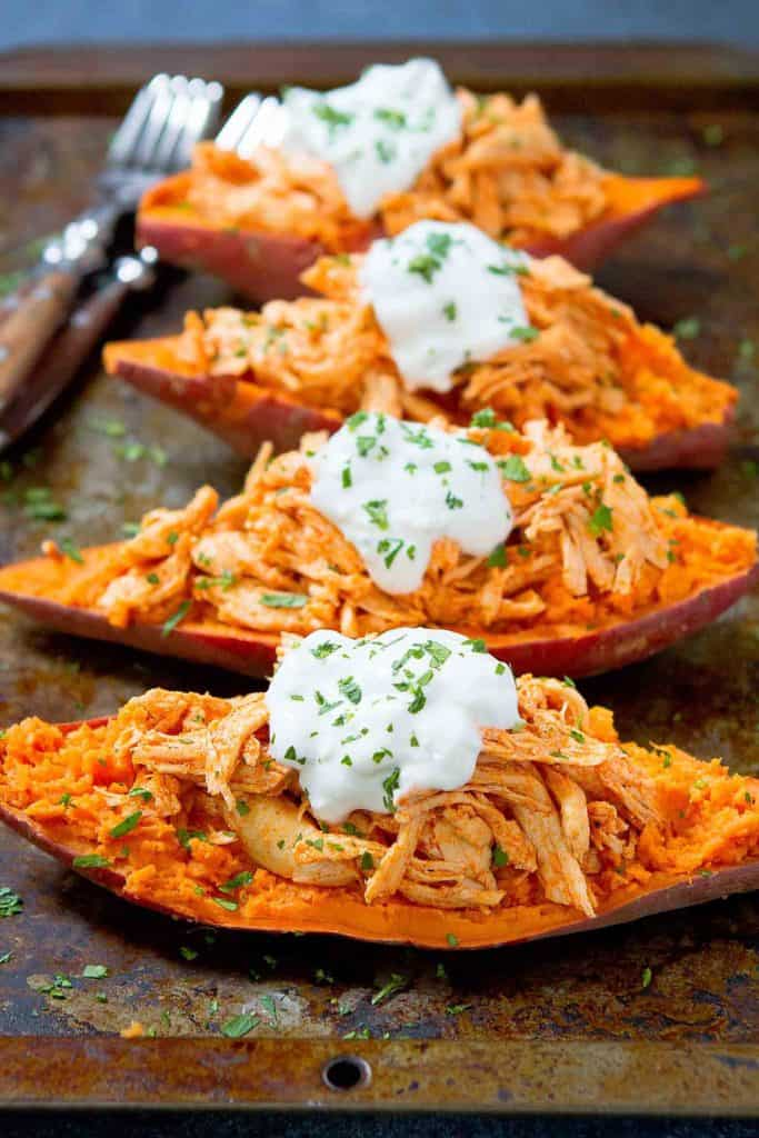 Buffalo Chicken Sweet Potato Recipe 20 Minute Meal