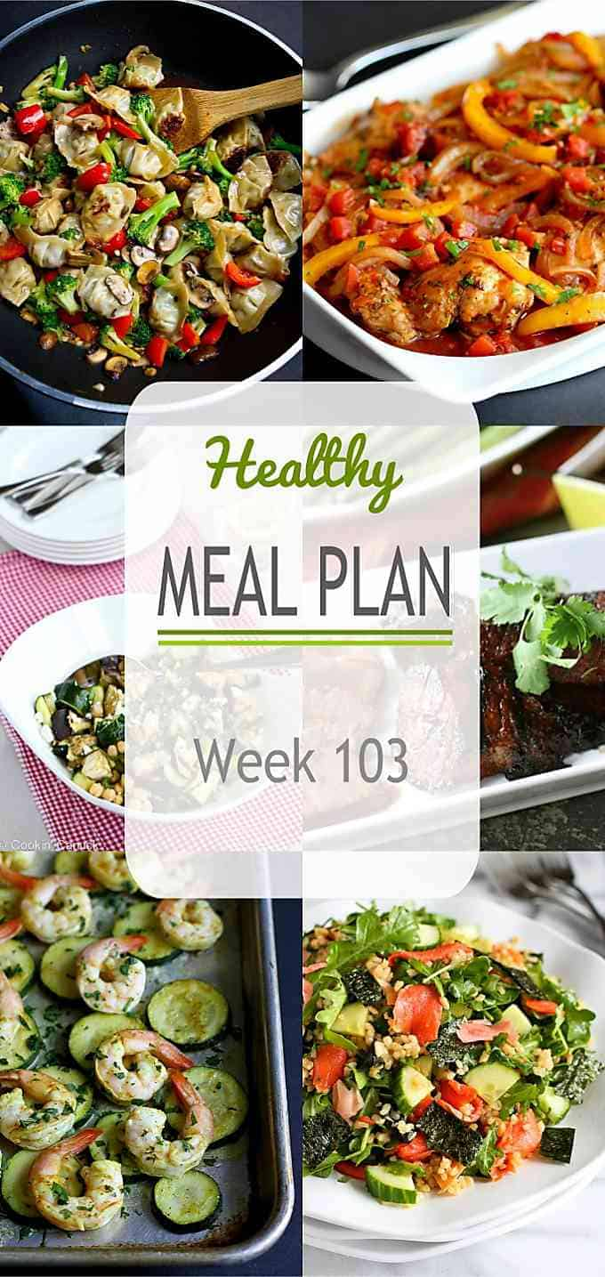 Another healthy meal plan, with plenty of summer produce-inspired recipes. Plus, one splurge night for good measure! #mealplanning #mealprep