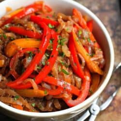 Balsamic Peppers and Onions Recipe
