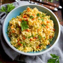 Brown Rice Pilaf with Orzo
