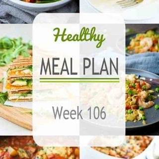 This week's healthy meal plan has a great mix of flavors - everything from curry spices to an easy hummus dressing. It features both vegetarian and light meat lovers' meals! #mealplanning #mealprep #dinner