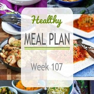 We're getting into comfort food season and this healthy meal plan has plenty of options, both meat and meatless. #mealprep #mealplanning #dinner